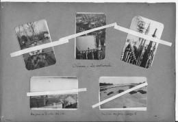 Orléans 1919 Soldats Du 8ème Génie En Barque Vues De La Ville De La Cathédrale Et Des Alentours 5 Photos 14-18 Ww1 Wk1 - War, Military