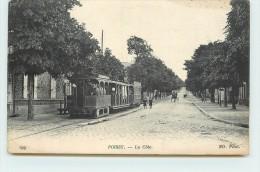 POISSY - La Côte De Poissy, Le Tramway. - Tramways