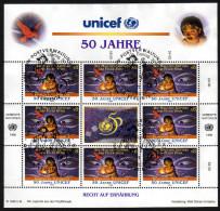 UNO Wien 1996 - Wie Maui Den Göttern Das Feuer Stahl - Kleinbogen Mit Ersttagstempel - Märchen, Sagen & Legenden