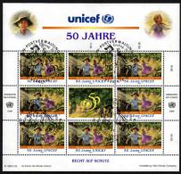 UNO Wien 1996 - Hänsel Und Gretel - Kleinbogen Mit Ersttagstempel - Märchen, Sagen & Legenden