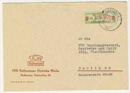 DDR Dienst Gruppe B Michel No. 31 I gestempelt used auf Brief