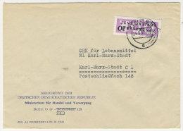 DDR Dienst Gruppe B Michel No. 11 gestempelt used auf Brief