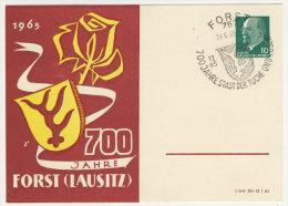 DDR Privat Ganzsache gebraucht / 700 Jahre Forst Lausitz 1965