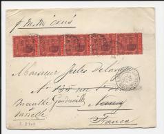 LETTRE DE L ' ILE MAURICE AVEC BEL AFFRANCHISSEMENT ET CAD MARITIME  1904 => FRANCE COVER MAURITIUS - Mauritius (1968-...)