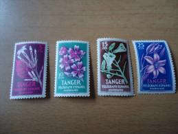 Spanien  Tanger 4 Werte Pflanzen - Spanisch-Marokko