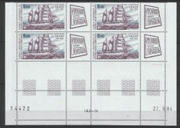 "TAAF Coins Datés Aerien YT 85 "" Nordposta "" Neuf** Du 22.6.84 - Autres"