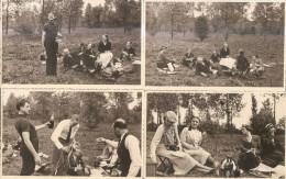 Un Pic-nic Bien Arrosé-4 Photos 1933 - Personnes Anonymes