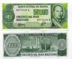 Bolivie - Bolivia Billet De 50000 Pesos Pick 170 Neuf 1er Choix UNC - Bolivia