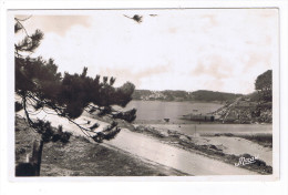 MOELAN KERFANY  VUE DE LA PLAGE AU FOND PORT MANECH - Moëlan-sur-Mer