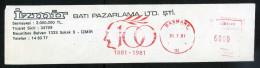 Machine Stamps (ATM) Red Special Cancels BASMANE 31.7.81 (#85) - 1921-... République
