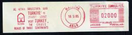 Machine Stamps (ATM) Red Special Cancels BALCOVA 18.9.85 (#83) - 1921-... République