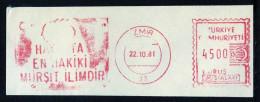 Machine Stamps (ATM) Red Special Cancels IZMIR 22.10.81 (#80) - 1921-... République