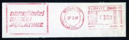Machine Stamps (ATM) Red Special Cancels KUCUKESAT 27.2.87 (#79) - 1921-... République