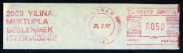 Machine Stamps (ATM) Red Special Cancels KONAK 25.2.87 (#78) - 1921-... République