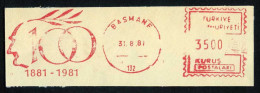 Machine Stamps (ATM) Red Special Cancels BASMANE 31.8.81 (#72) - 1921-... République