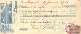 Lettre Change 22/10/1895 TAVERNIER & MICHEL épicerie Droguerie Sel Sucre ST ETIENNE Loire à Paulhaguet 43 Timbre Fiscal - Lettres De Change
