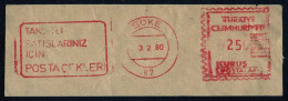 Machine Stamps (ATM) Red Special Cancels SOKE 3.2.80 (#66) - 1921-... République