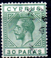 CYPRUS 1912 King George V - 30pa.   - Green FU - Cyprus (...-1960)