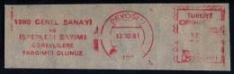 Machine Stamps (ATM) Red Special Cancels BEYOGLU 12.10.81 (#65) - 1921-... République