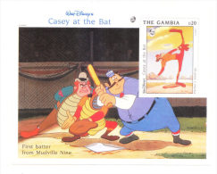 Gambia 1993 Casey At The Bat Cartoon S/S MNH - Gambie (1965-...)