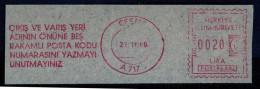 Machine Stamps (ATM) Red Special Cancels CESME 27.11.86 (#59) - 1921-... République