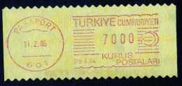 Machine Stamps (ATM) Red Special Cancels PASAPORT 11.2.86 (#57) - 1921-... République