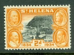 St Helena: 1934   Centenary Of British Colonisation     SG117    2d     MH - Saint Helena Island