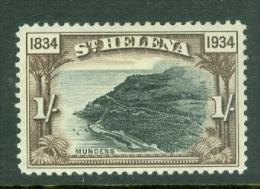 St Helena: 1934   Centenary Of British Colonisation     SG120    1/-     MH - Saint Helena Island