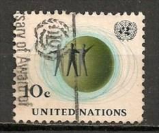 Timbres - Amérique - Nations Unies - 1964 - 10 C. - - New-York - Siège De L'ONU