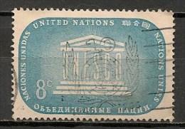 Timbres - Amérique - Nations Unies - 1955 -8 C. - - New-York - Siège De L'ONU