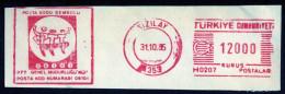 Machine Stamps (ATM) Red Special Cancels KIZILAY 31.10.85 (#55) - 1921-... République
