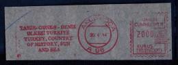Machine Stamps (ATM) Red Special Cancels AKCAKOCA 20.4.84 (#54) - 1921-... République