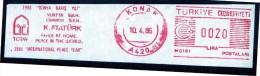 Machine Stamps (ATM) Red Special Cancels KONAK 10.4.86 (#49) - 1921-... République