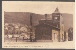 67--SCHIRMECK--La Gare Er Le Sanatorium---cpsm Pf - Schirmeck