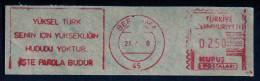Machine Stamps (ATM) Red Special Cancels BERGAMA 21.7.78 (#45) - 1921-... République