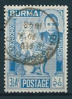 Burma 1948  General San  3 1/2 A   Mi-Nr. 89  Gestempelt / Used - Myanmar (Burma 1948-...)