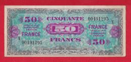 "BILLET DE 50 FRANCS  "" VERSO FRANCE ""  DU 4 JUIN 1945   SERIE  X    (PEU) - Trésor"