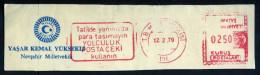 Machine Stamps (ATM) Red Special Cancels T.B.MILLET MECLISI 12.2.79 (#40) - 1921-... République