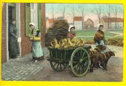 LAITIERE & ATTELAGE De CHIEN - MELKMEISJE & HONDENKAR - MILK MAID & DOG DRAWN CART 682 - Craft