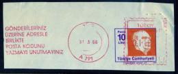 Machine Stamps (ATM) Red Special Cancels TIRE 31.3.86 (#34) - 1921-... République