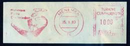 Machine Stamps (ATM) Red Special Cancels MENEMEN 15.1.83 (#33) - 1921-... République