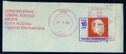 Machine Stamps (ATM) Red Special Cancels TIRE 31.3.86 (#31) - 1921-... République