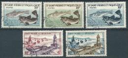 St Pierre Et Miquelon  - 1957 -  Série Courante - N° 353 à 357 - Oblit - Used - St.Pierre & Miquelon