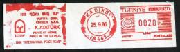 Machine Stamps (ATM) Red Special Cancels KADIKOY 25.9.86 (#27) - 1921-... République