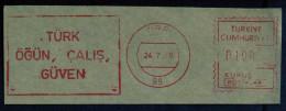 Machine Stamps (ATM) Red Special Cancels TIRE 24.7.75 (#26) - 1921-... République