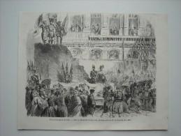 GRAVURE 1858. FETES HISTORIQUES DE LILLE........... CHAR DE MALAKOFF.............. - Estampes & Gravures