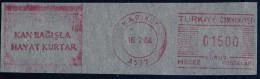 Machine Stamps (ATM) Red Special Cancels KADIKOY 16.2.84 (#25) - 1921-... République