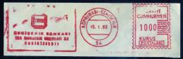 Machine Stamps (ATM) Red Special Cancels KOPRUBASI-ESKISEHIR 15.1.83 (#24) - 1921-... République