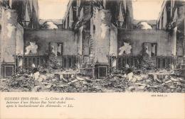 """MARNE  51  REIMS  GUERRE 14 18 """"LE CRIME DE REIMS""""  MAISON RUE SAINT ANDRE  BOMBARDEE PAR LES ALLEMANDS  CARTE STEREO - Reims"""