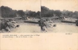 MARNE  51   SAINT THOMAS  BOIS DE LA GRURIE  GUERRE 14 18  ABRIS CONSTRUITS DANS LE VILLAGE  CARTE STEREO - Francia